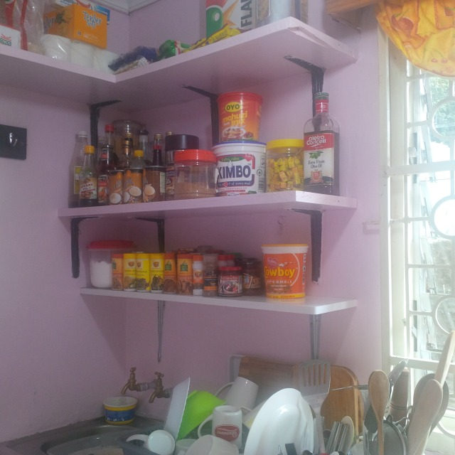 kitchen shelving for all the spices